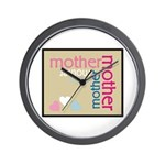 Mother Plaque with Hearts Mother's Wall Clock