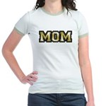 Golden Mom Name Gold Letters Jr. Ringer T-Shirt