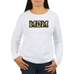 Golden Mom Name Gold Letters Women's Long Sleeve T