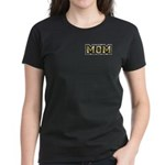 Golden Mom Name Gold Letters Women's Dark T-Shirt