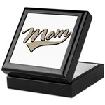 Baseball Swoosh Mom Mother's Keepsake Box