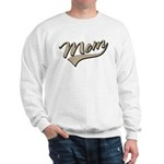 Baseball Swoosh Mom Mother's Sweatshirt