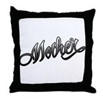 Mother Tattoo Art Text Throw Pillow