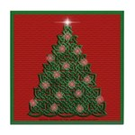 Celtic Christmas Tree Tile Coaster