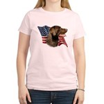 Chocolate Lab Flag Women's Light T-Shirt