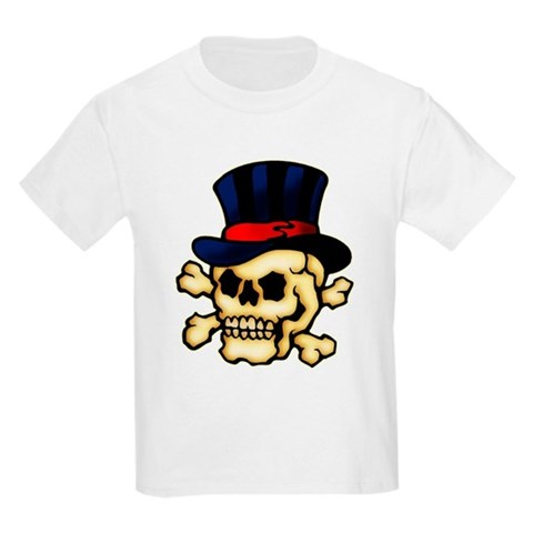 CafePress gt; T-shirts gt; Skull in Top Hat Tattoo Art T-Shirt. Skull in Top Hat Tattoo Art T-Shirt