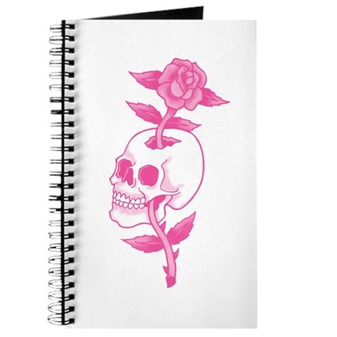 Pink Skull Rose Tattoo Art Journal. Made by trendyteeshirts.com
