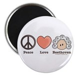 Peace Love Heart Beethoven Music Magnet