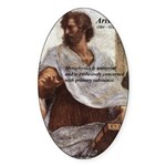 Ancient Greek Philosophy: Aristotle Oval Sticker