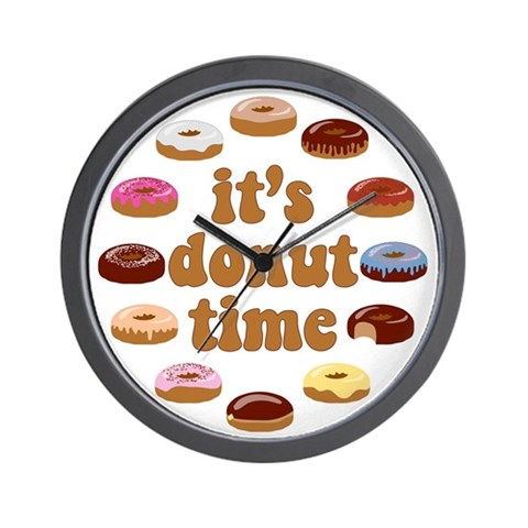 It's Donut Time! Wall Clock