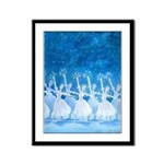 Dance of the Snowflakes Framed Panel Print