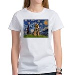 Starry Night / Border Terrier Women's T-Shirt