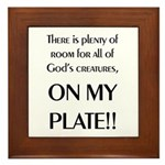 On My Plate Framed Tile