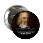 Thomas Hobbes: War 2.25&quot; Button (10 pack)