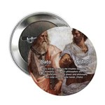 "Plato Aristotle Philosophy 2.25"" Button (10 pack)"