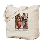 Plato Aristotle Philosophy Tote Bag
