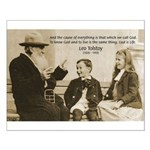 Leo Tolstoy: God Quotes Small Poster