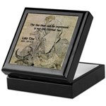 Lao Tzu Philosophy of Tao Keepsake Box