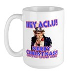 Merry Christmas ACLU Large Mug