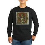 Gothic Angel Long Sleeve Black T-Shirt