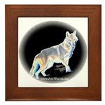 Ghost Wolf Framed Tile
