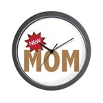 New Mom Mother First Time Wall Clock