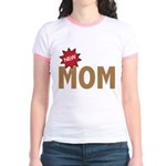 New Mom Mother First Time Jr. Ringer T-Shirt