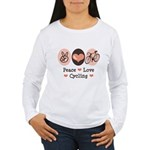 Bicycle Peace Love Cycling Women's Long Sleeve T-S