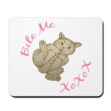 Bite Me Cat Mousepad