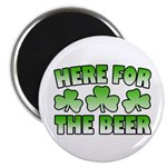 "Here for the Beer Shamrock 2.25"" Magnet (10 pack)"
