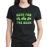 Here for the Beer Shamrock Women's Dark T-Shirt
