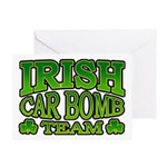 Irish Car Bomb Team Shamrock Greeting Card
