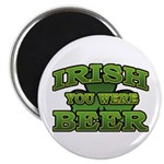 "Irish You Were Beer Shamrock 2.25"" Magnet (100 pac"