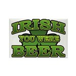 Irish You Were Beer Shamrock Rectangle Magnet