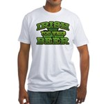 Irish You Were Beer Shamrock Fitted T-Shirt