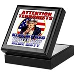Uncle Sam Anti Terrorist Keepsake Box