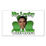 Obama My Lucky Charm Rectangle Sticker