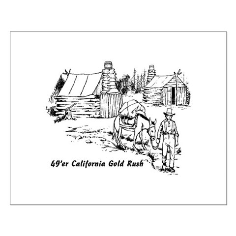 1849 california gold rush miners. 49er Gold Rush Miner with pack