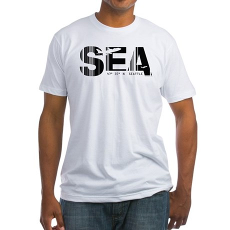 Seattle Washington SEA Air Wear Fitted T-Shirt