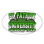 St. Patrick University Drinking Team Sticker (Oval
