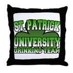 St. Patrick University Drinking Team Throw Pillow