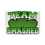 Team Smashed Rectangle Magnet