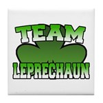Team Leprechaun Tile Coaster