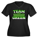 Team Green Women's Plus Size V-Neck Dark T-Shirt