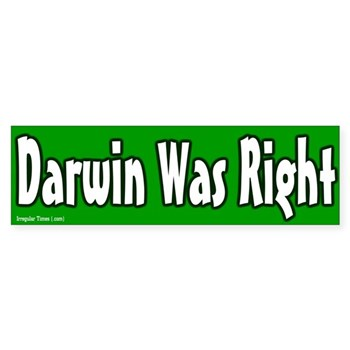 Charles Darwin Was Right Bumper Sticker