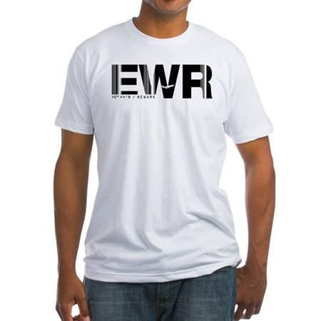 Newark New Jersey EWR Air Wear Fitted T-Shirt