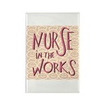 Nurse in the Works Rectangle Magnet (100 pack)