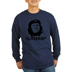 El Reagan Viva Revolucion Long Sleeve Dark T-Shirt