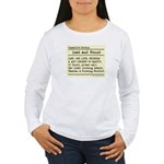 Lost Found Student Nurse Women's Long Sleeve T-Shi
