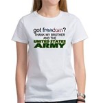 Got Freedom? Army (Brother) Women's T-Shirt